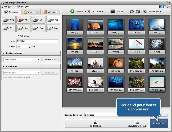 Comment convertir les images? Etape 6
