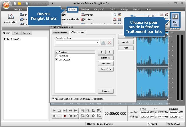 Comment normaliser le volume du son des différents fichiers audio? Etape 3