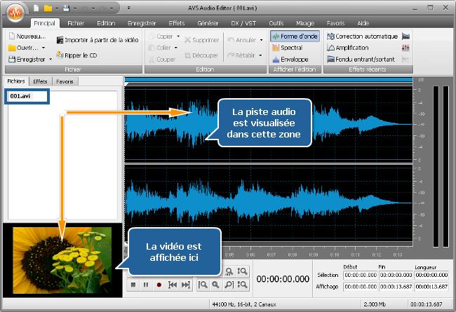 Comment modifier une bande son d'un fichier vidéo? Etape 2