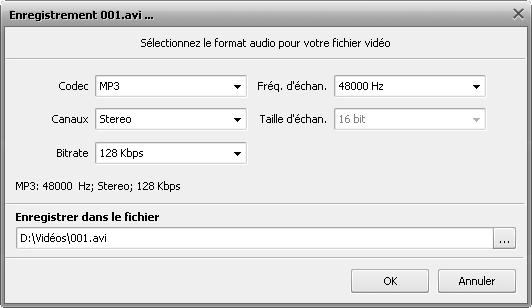 Comment modifier une bande son d'un fichier vidéo? Etape 5