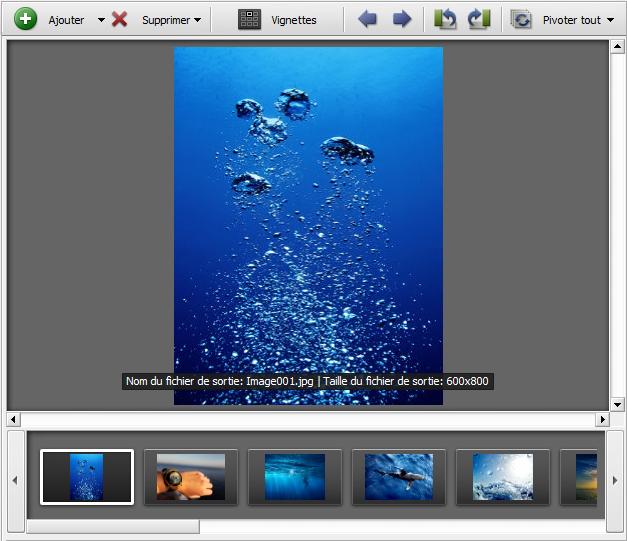Comment maintenir l'orientation d'une image (paysage ou portrait) lors du redimensionnement? Etape 3