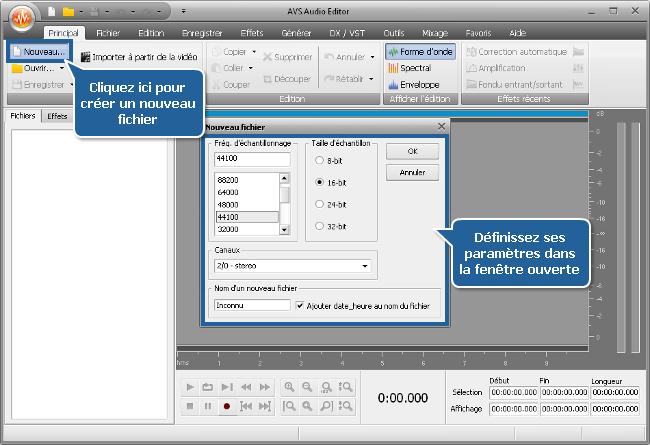 Comment enregistrer de la musique en utilisant AVS Audio Editor? Etape 2