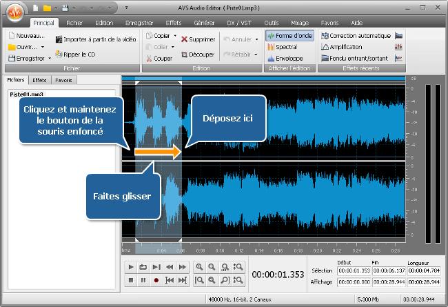 Comment augmenter le volume sonore (d'une partie) d'une piste audio? Etape 3