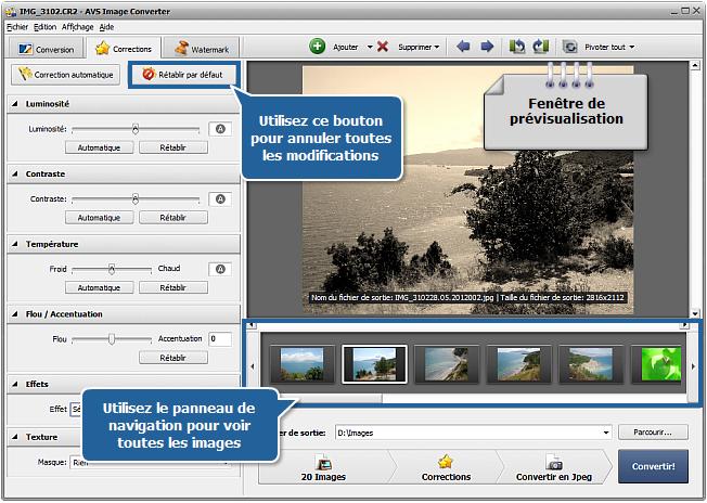Comment modifier les fichiers RAW? Etape 4