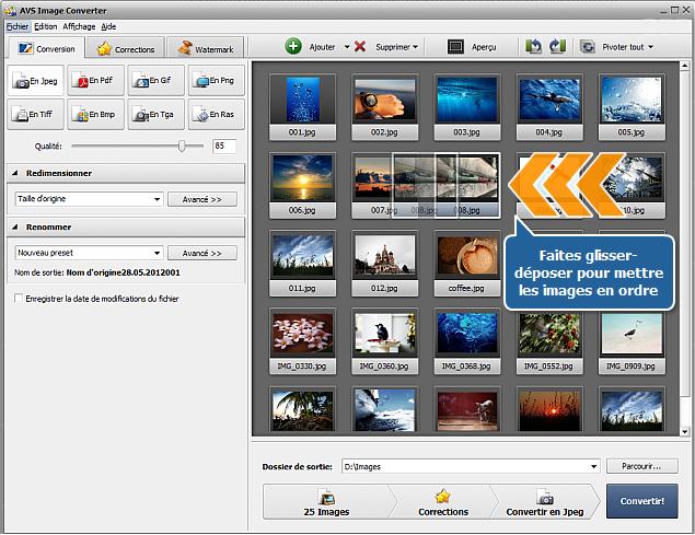 Comment convertir les images en format PDF? Etape 2