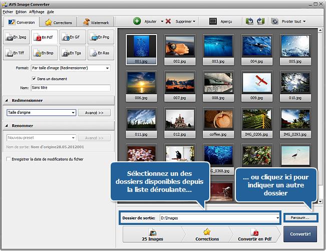 Comment convertir les images en format PDF? Etape 5