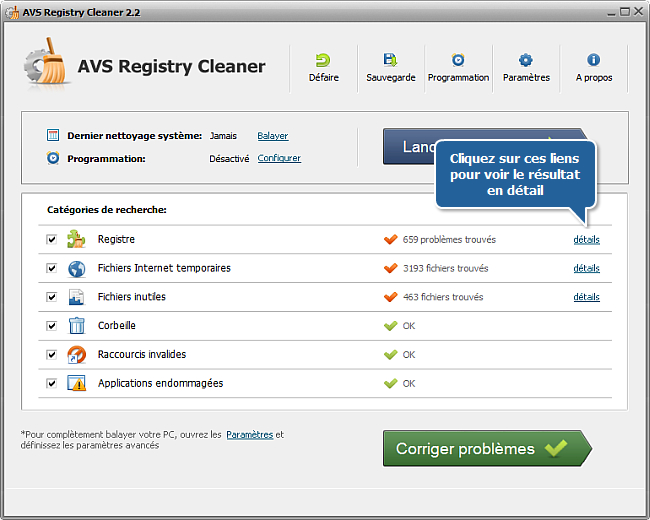 Comment nettoyer le registre de l'ordinateur avec AVS Registry Cleaner? Etape 4