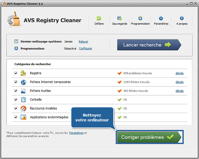 Comment nettoyer le registre de l'ordinateur avec AVS Registry Cleaner? Etape 6