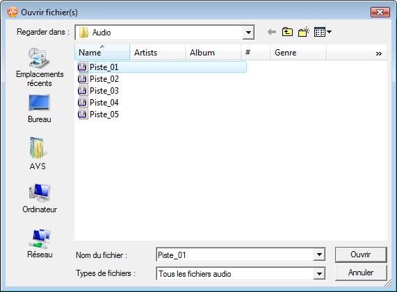 Comment appliquer des effets audio en utilisant AVS Audio Editor? Etape 2