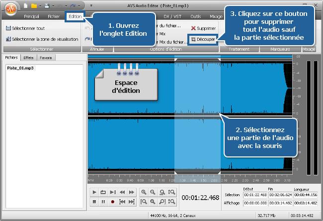 Comment créer une sonnerie avec AVS Audio Editor? Etape 3