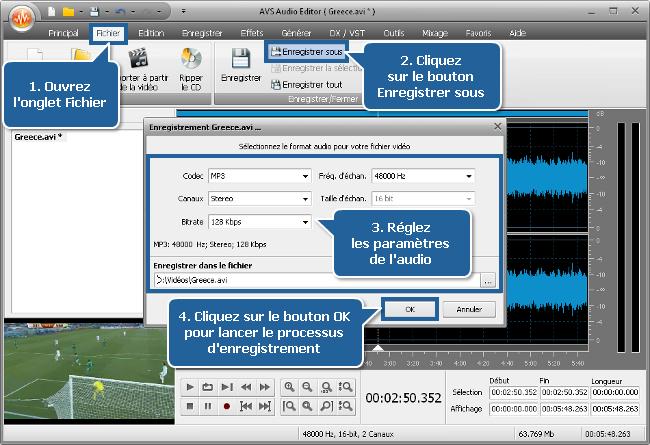 Comment couper le son des vuvuzelas avec AVS Audio Editor? Etape 5