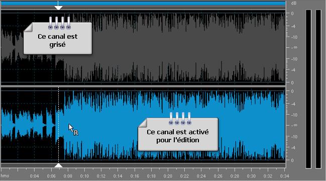 Comment éditer les canaux individuels avec AVS Audio Editor? Etape 3