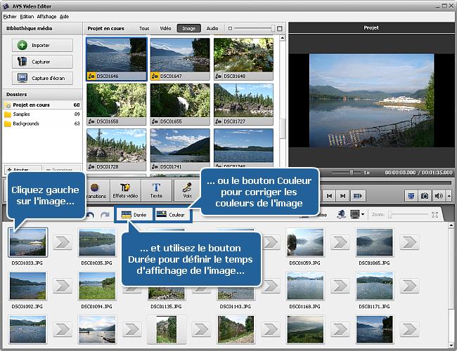 Comment créer un diaporama en utilisant AVS Video Editor? Etape 1