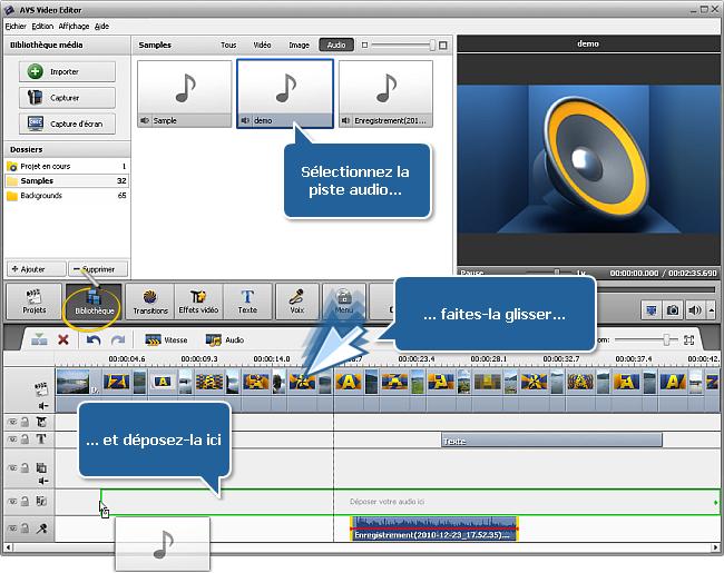 Comment créer un diaporama en utilisant AVS Video Editor? Etape 4