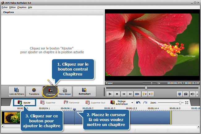 Comment créer un menu de disque en utilisant AVS Video ReMaker? Etape 4