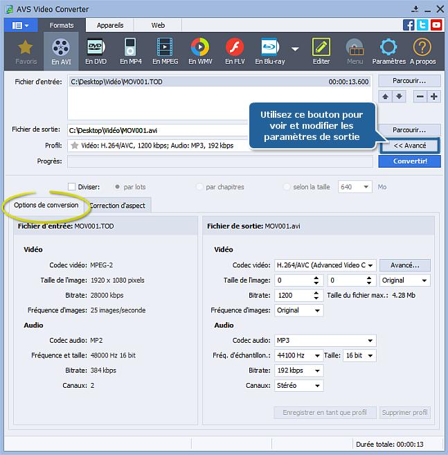 Comment convertir une vidéo HD? Etape 3