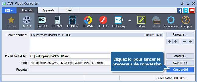 Comment convertir une vidéo HD? Etape 6
