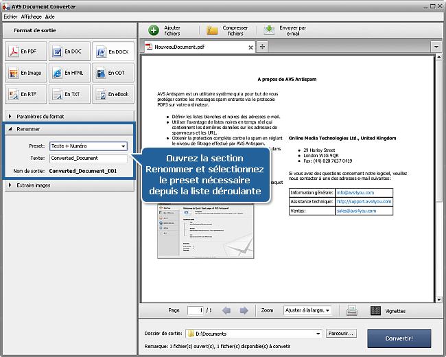 Comment convertir PDF au format DOCX? Etape 4