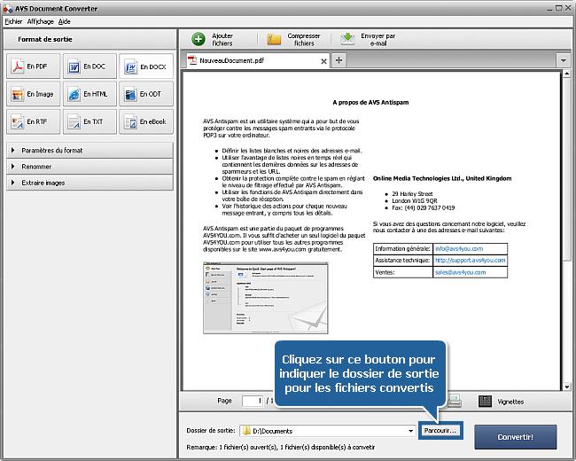Comment convertir PDF au format DOCX? Etape 5