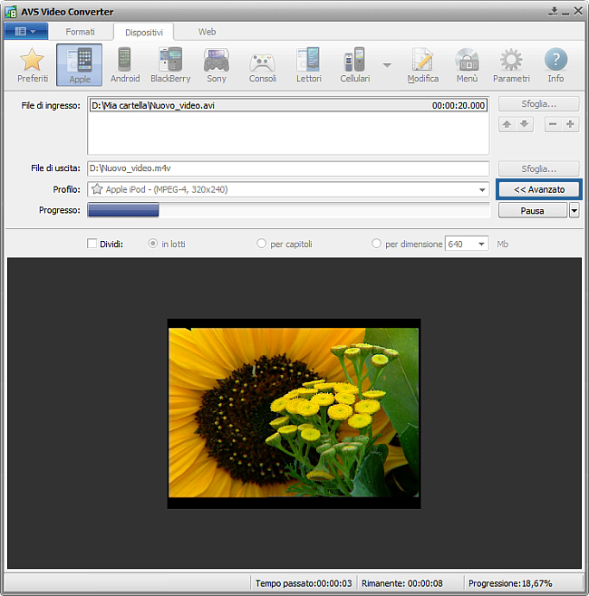Come convertire file video in MP4 per Apple iPod. Passo 5
