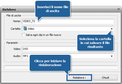 Come elaborare un video DVD personale usando AVS Video ReMaker? Passo 6