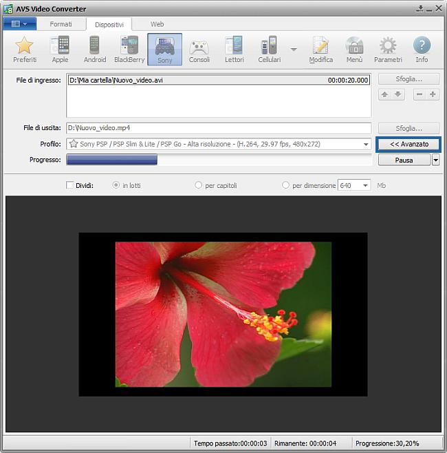 Come convertire file video in MP4 per Sony PSP? Passo 5