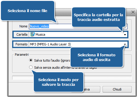 Come estrarre la traccia audio da un video? Passo 5