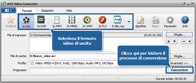 Come convertire file video con sottotitoli? Passo 5