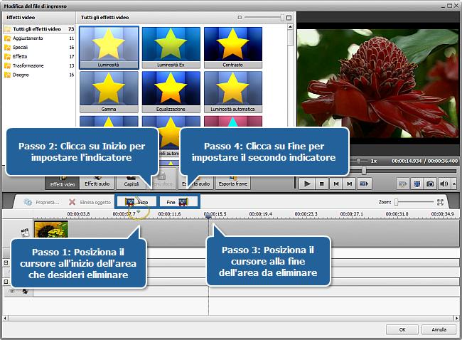 Come eliminare le parti inutili dal video e convertirlo in for Eliminare le alghe dal laghetto