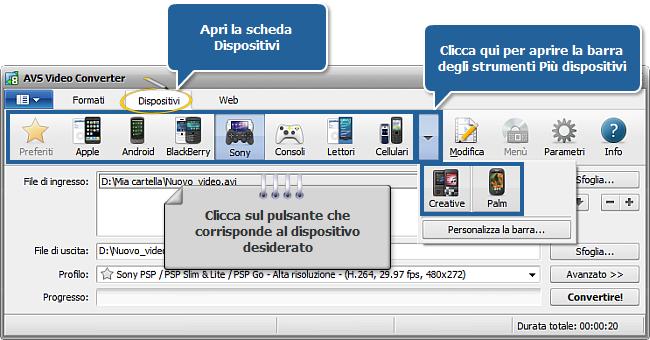 Come creare un file leggibile da un lettore portatile? Passo 3