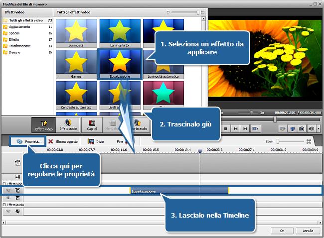 Come applicare un effetto al tuo video e convertirlo in un altro formato? Passo 4