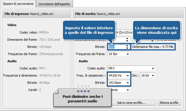 Come ridurre la dimensione del video sorgente usando AVS Video Converter? Passo 5