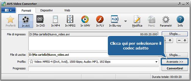 Come effettuare la conversione in più passaggi con AVS Video Converter? Passo 4