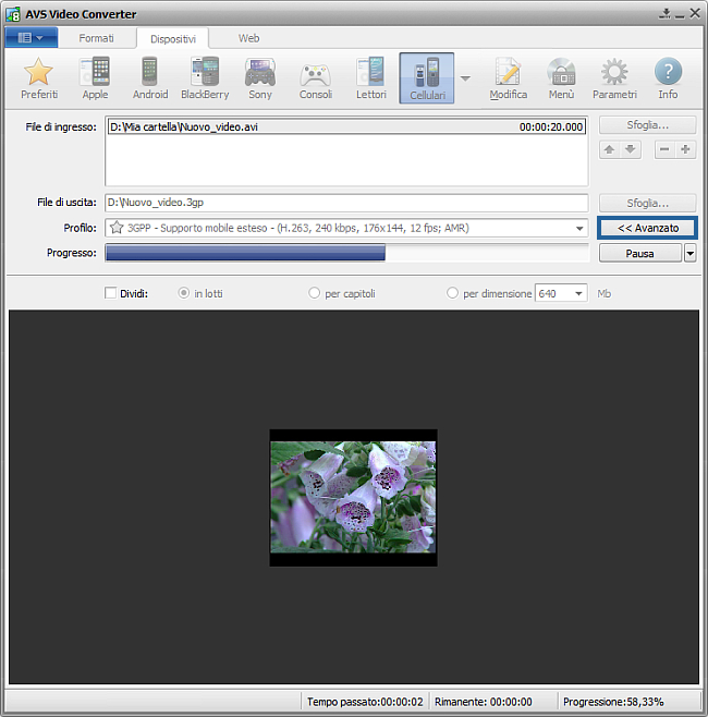 Come convertire file video in 3GP o MP4 per cellulari? Passo 5