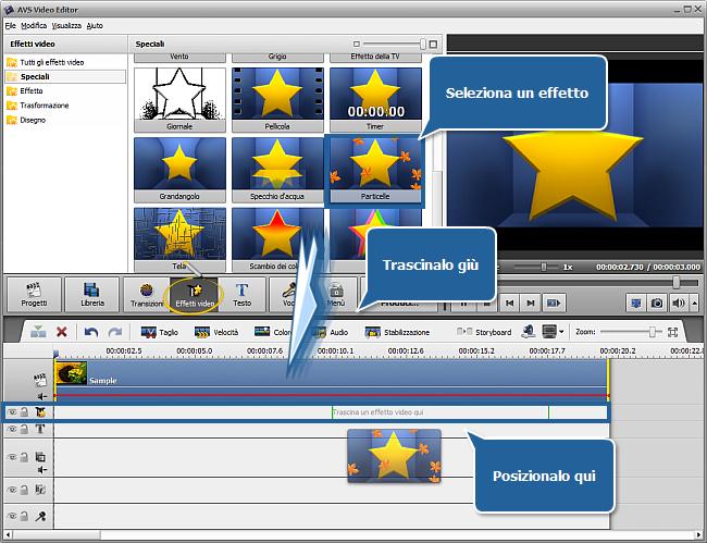 Come applicare un effetto video usando AVS Video Editor? Passo 1