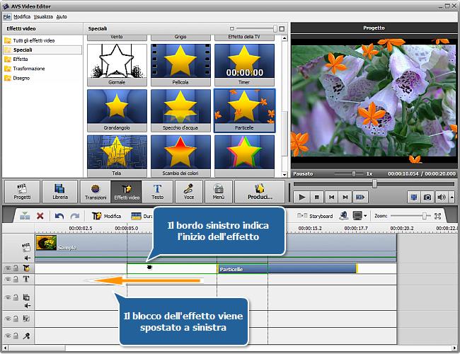 Come applicare un effetto video usando AVS Video Editor? Passo 2
