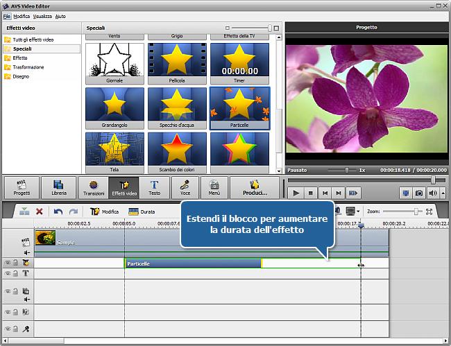 Come applicare un effetto video usando AVS Video Editor? Passo 3
