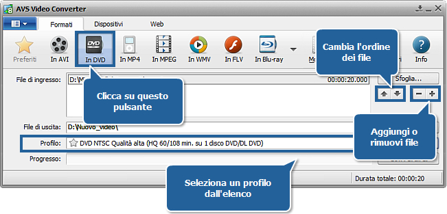 Come masterizzare video su DVD? Passo 3