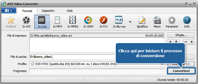 Come masterizzare video su DVD? Passo 5