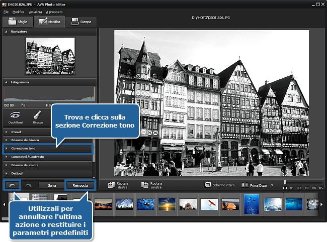 Come creare una foto in bianco e nero? Passo 3