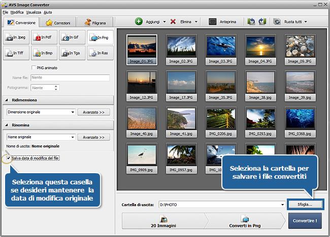 Come si fa a convertire file immagine? Passo 5