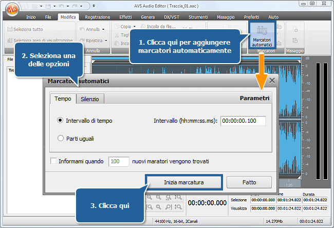 Come dividere un file audio in tracce separate con AVS Audio Editor? Passo 3