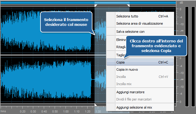 Come elaborare la traccia audio del video personale? Passo 4