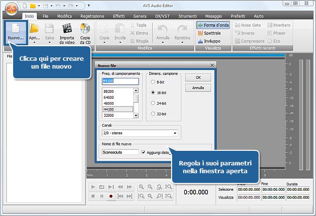 Come registrare la musica con AVS Audio Editor? Passo 2