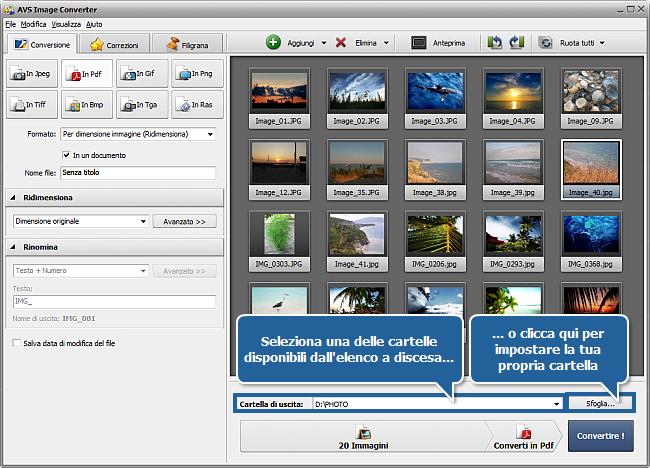 Come convertire immagini in PDF? Passo 5
