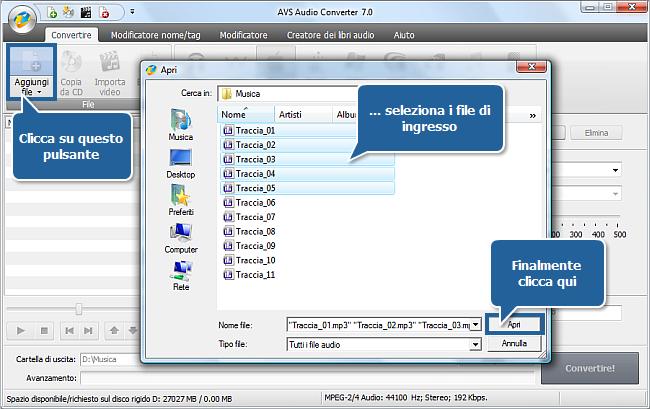 Come creare libri audio usando AVS Audio Converter? Passo 2