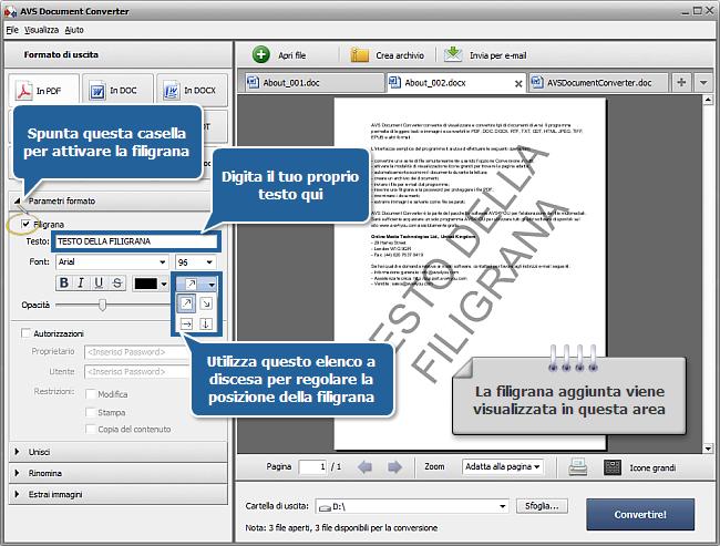 Come convertire i file DOC/DOCX in formato PDF? Passo 3