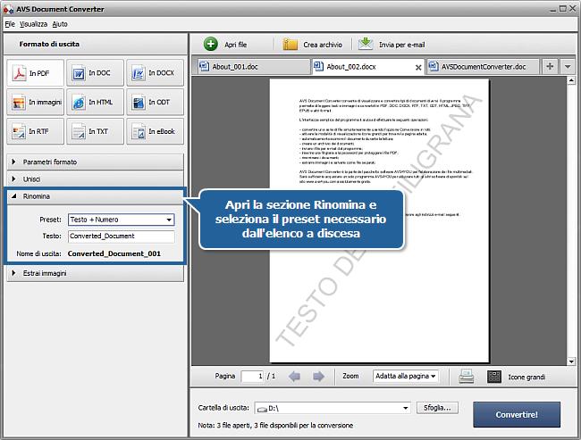 Come convertire i file DOC/DOCX in formato PDF? Passo 5