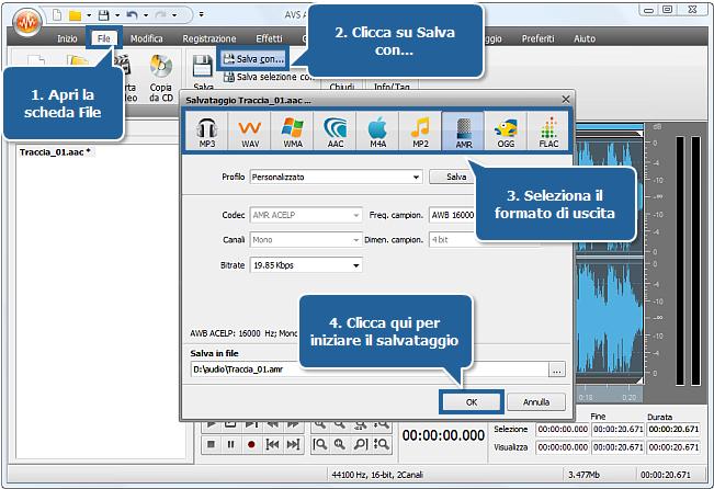 Come creare una suoneria usando AVS Audio Editor? Passo 5