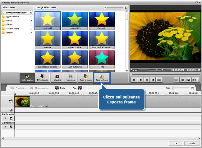 Come esportare le immagini da un video? Passo 5